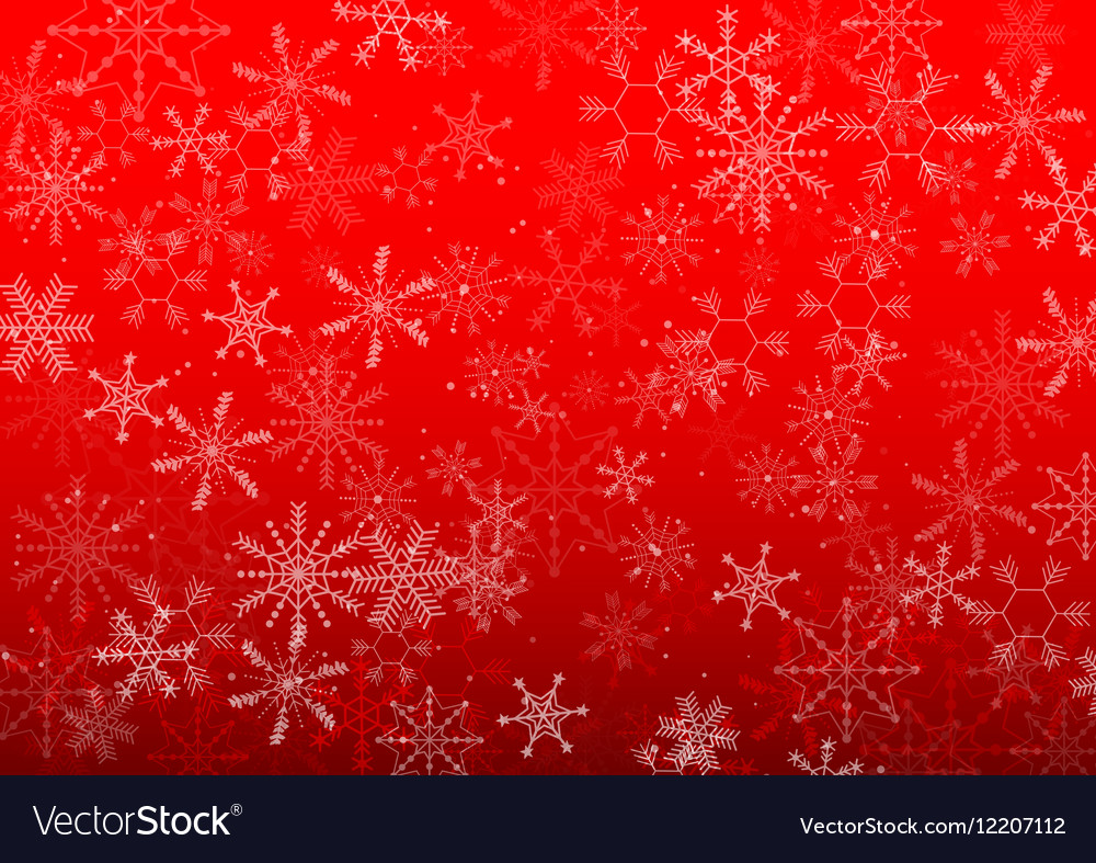 Background Christmas snowflake design vector image
