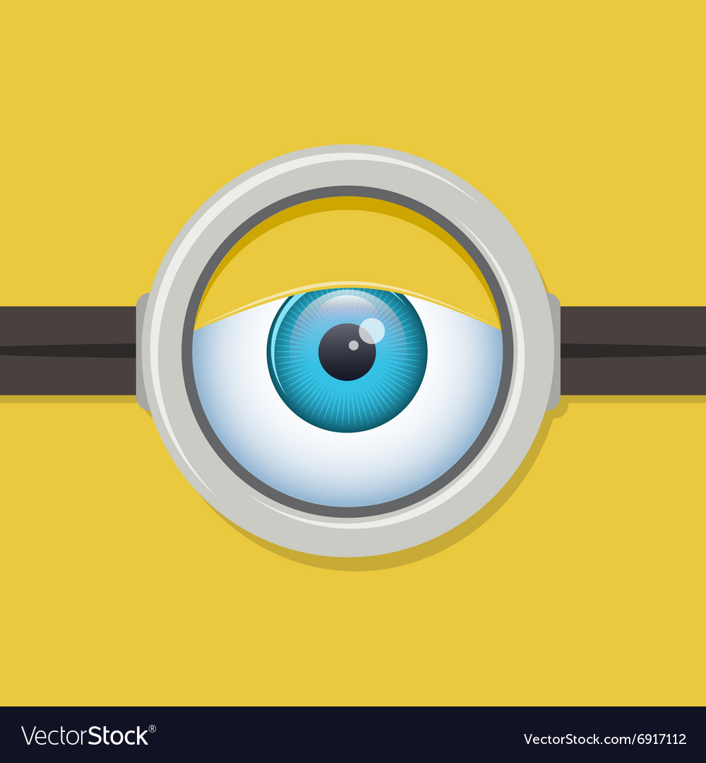 Cartoon one eye glasses or goggles eye