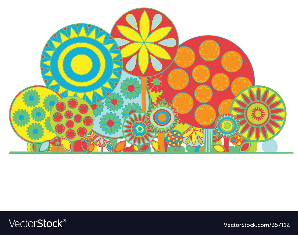 Funky floral background