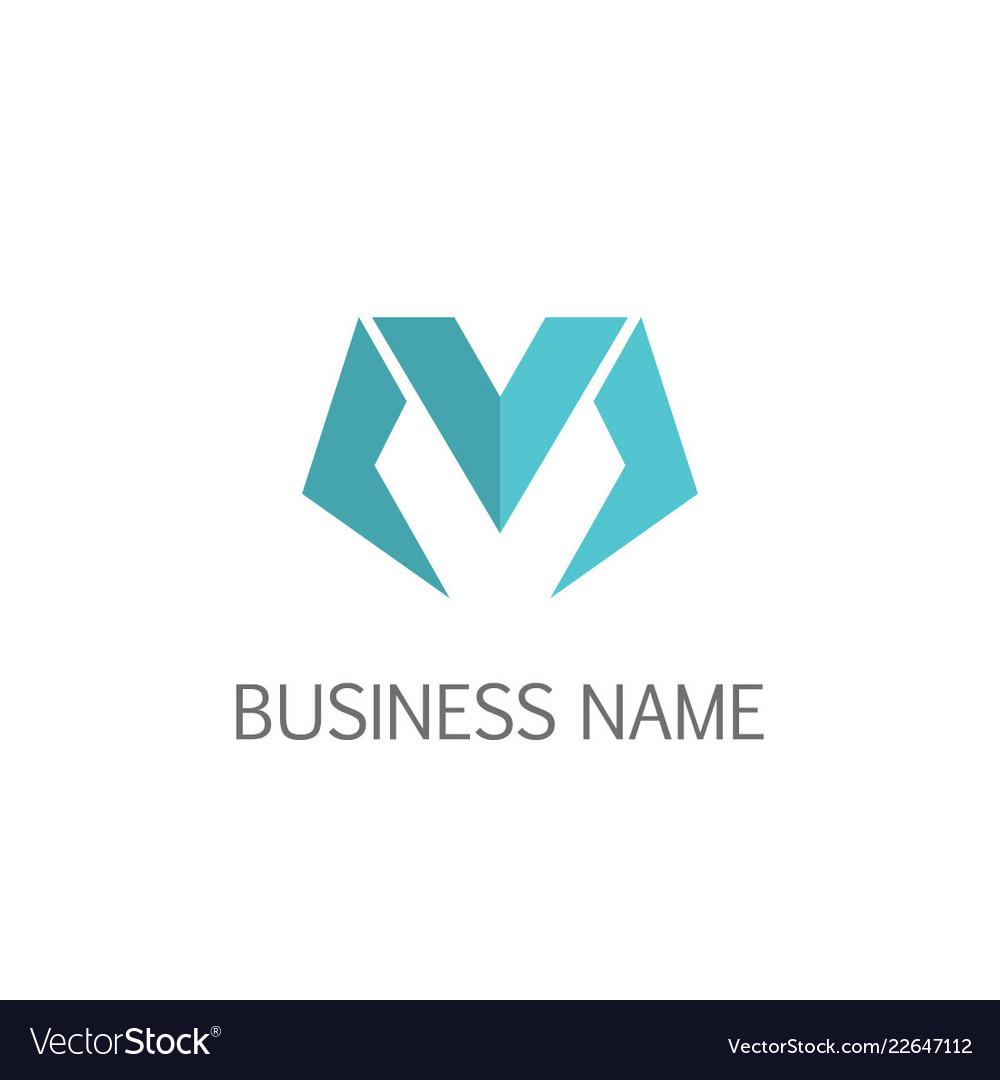 Letter m business logo