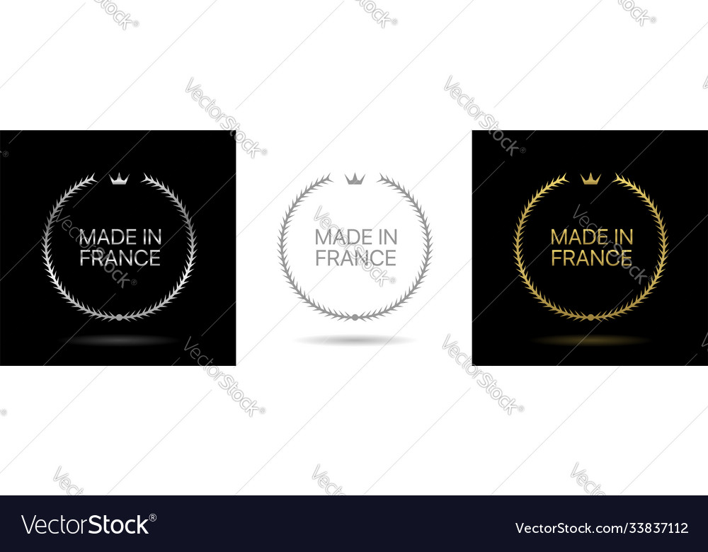 Made in france wreath icons