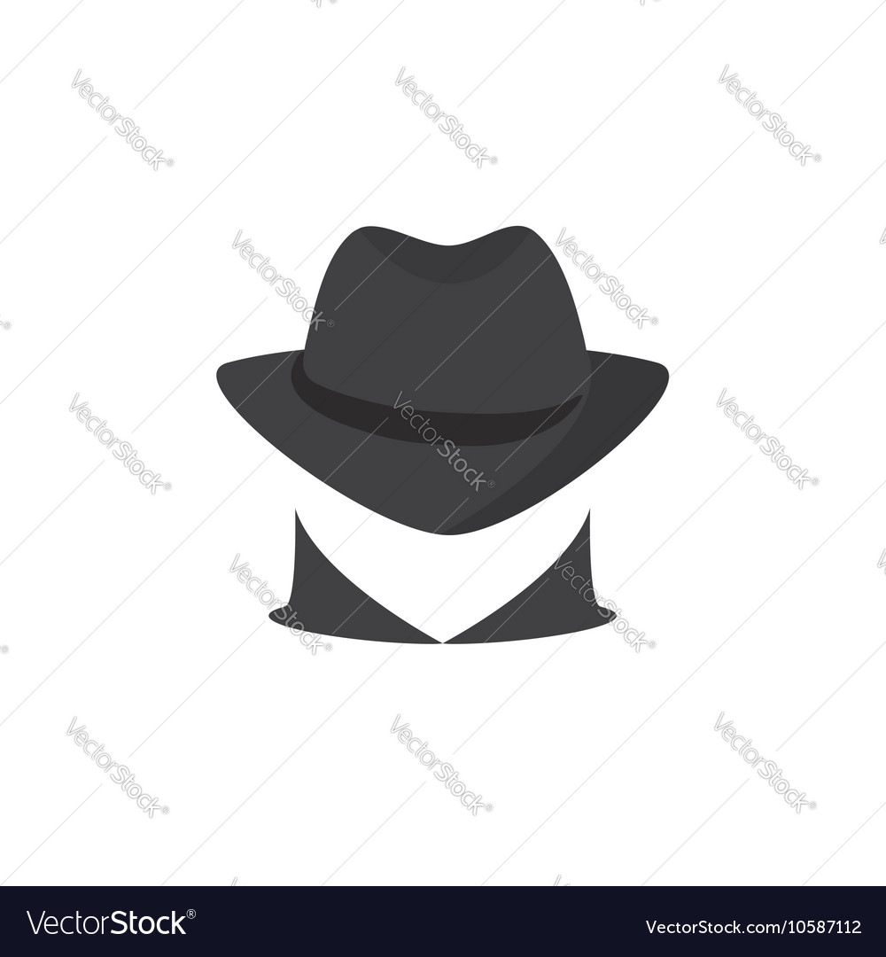 Picture of a secret agent Spy logo Royalty Free Vector Image e06ff6cee6a