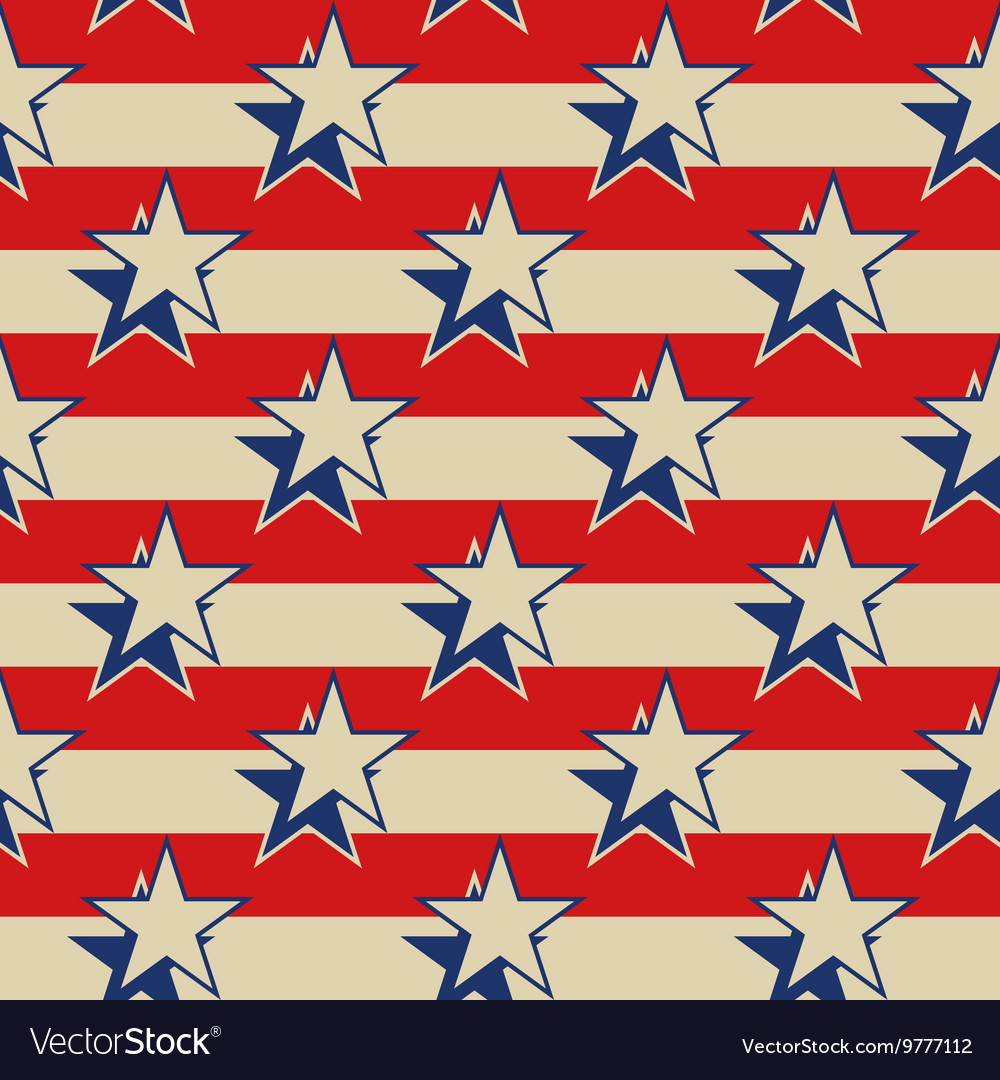 Stars stripes USA patriotic seamless background