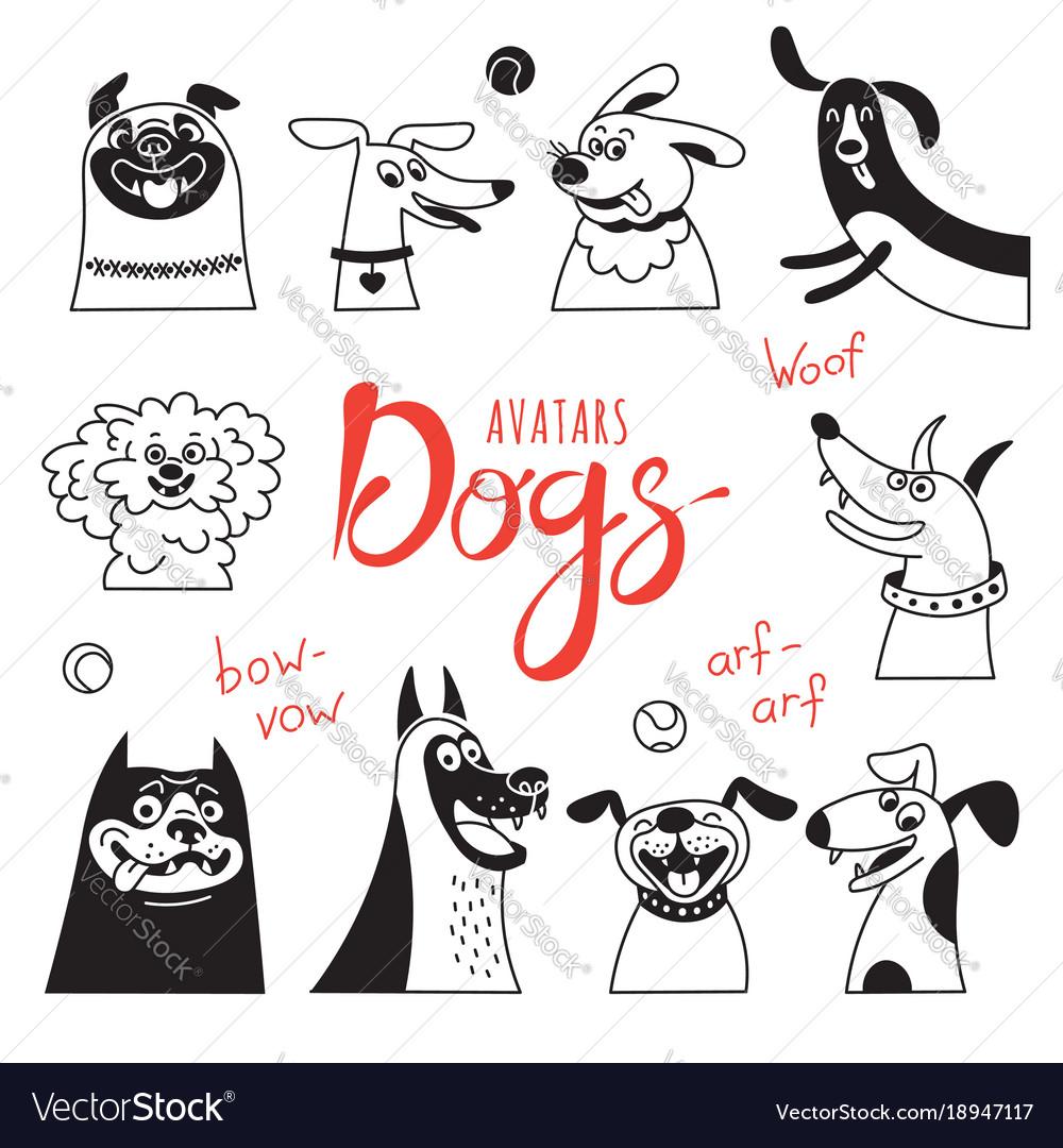 Avatar dogs funny lap-dog happy pug cheerful