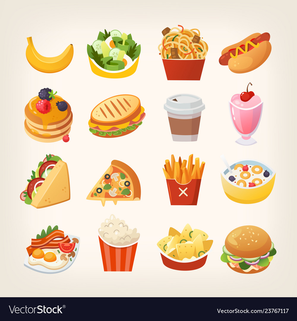 Colorful images fast food