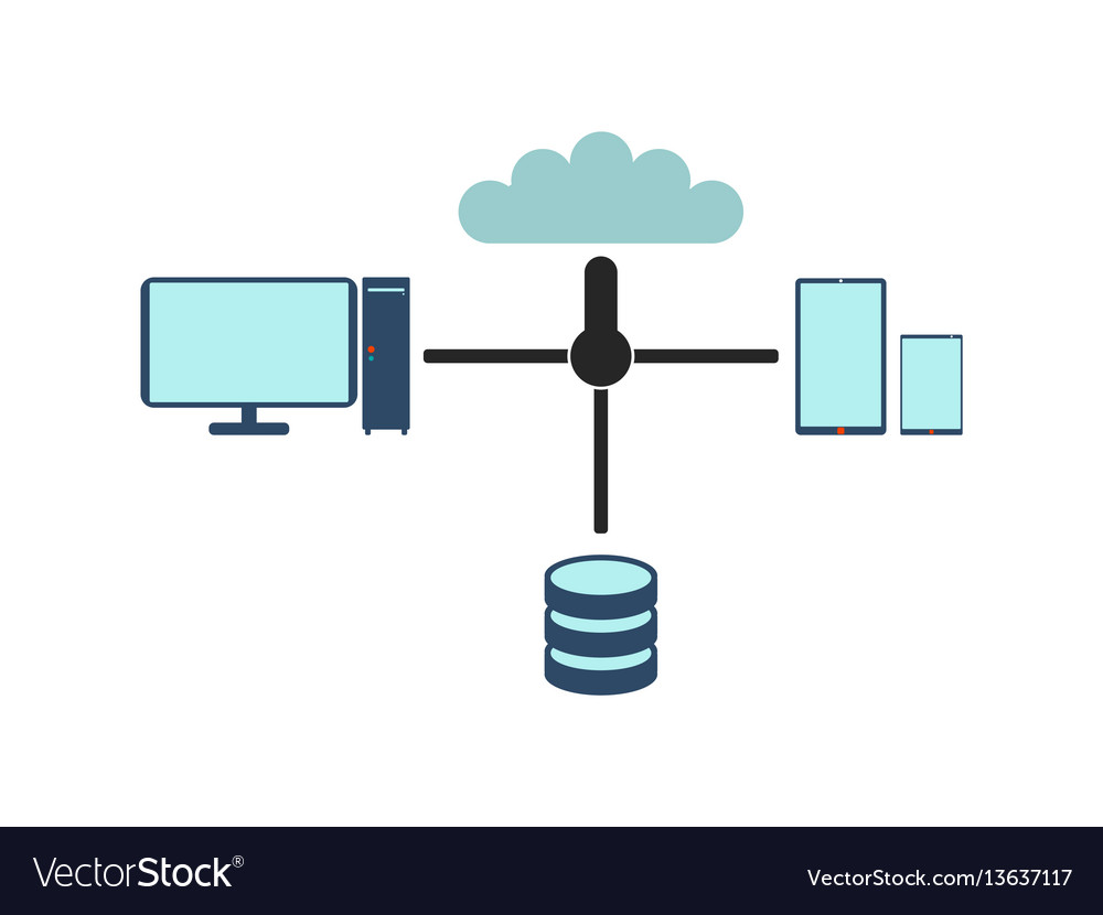 Computer network flat