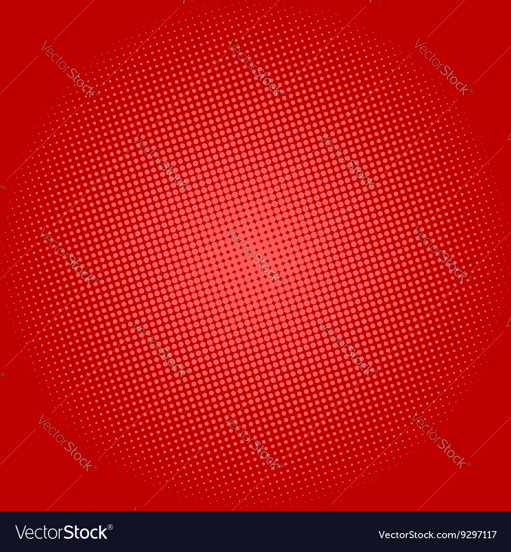 Dots on Red Background Pop Art Background
