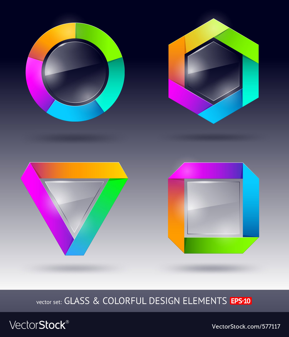 Glass design element