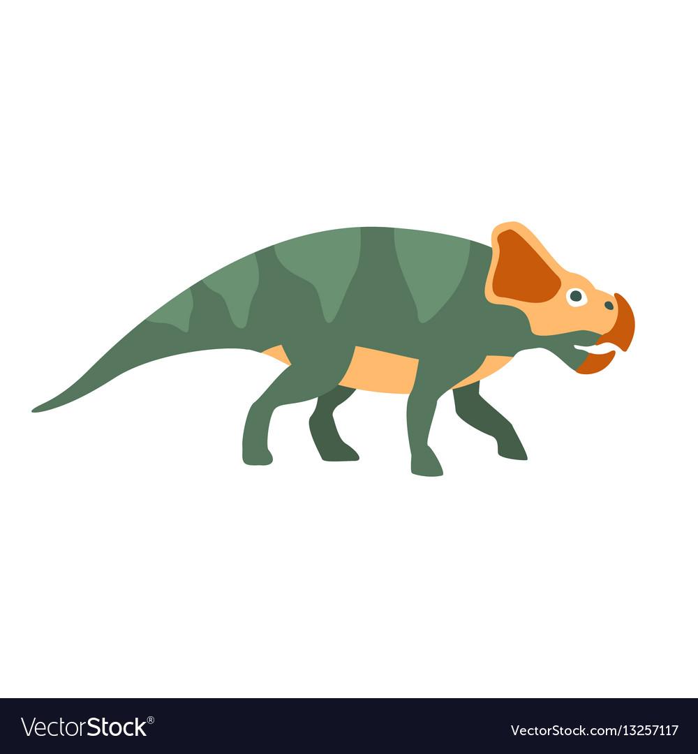 Protoceraptor dinosaur of jurassic period vector image
