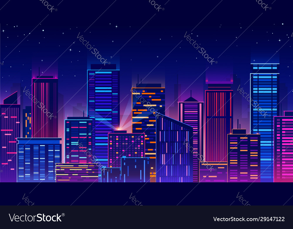 Futuristic night city