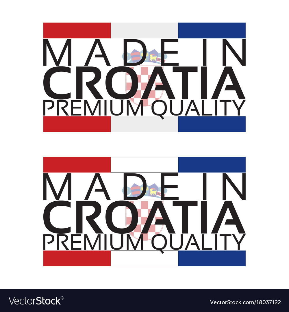 Made in croatia icon premium quality sticker with