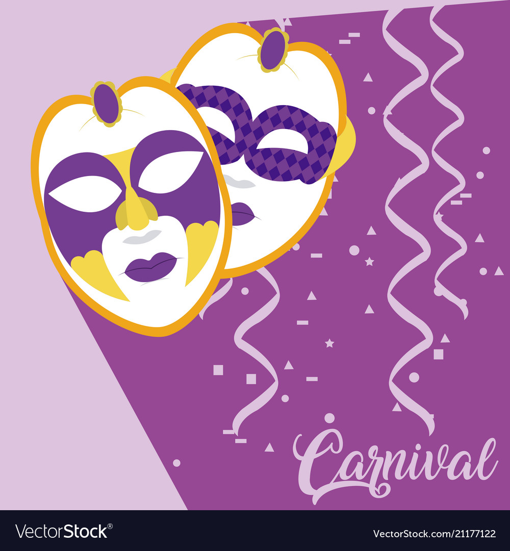 Mask carnival concept