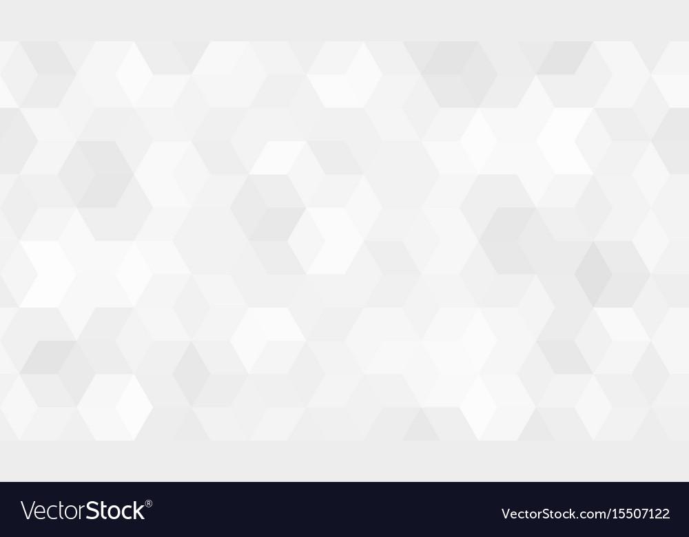 Pattern of hexagon cells vector image