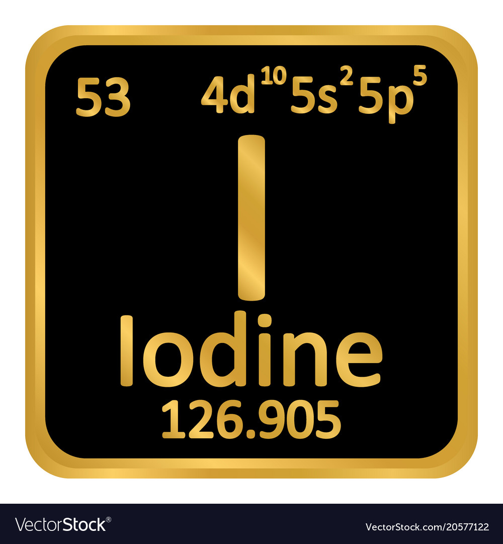 Periodic table element iodine icon royalty free vector image periodic table element iodine icon vector image urtaz Images