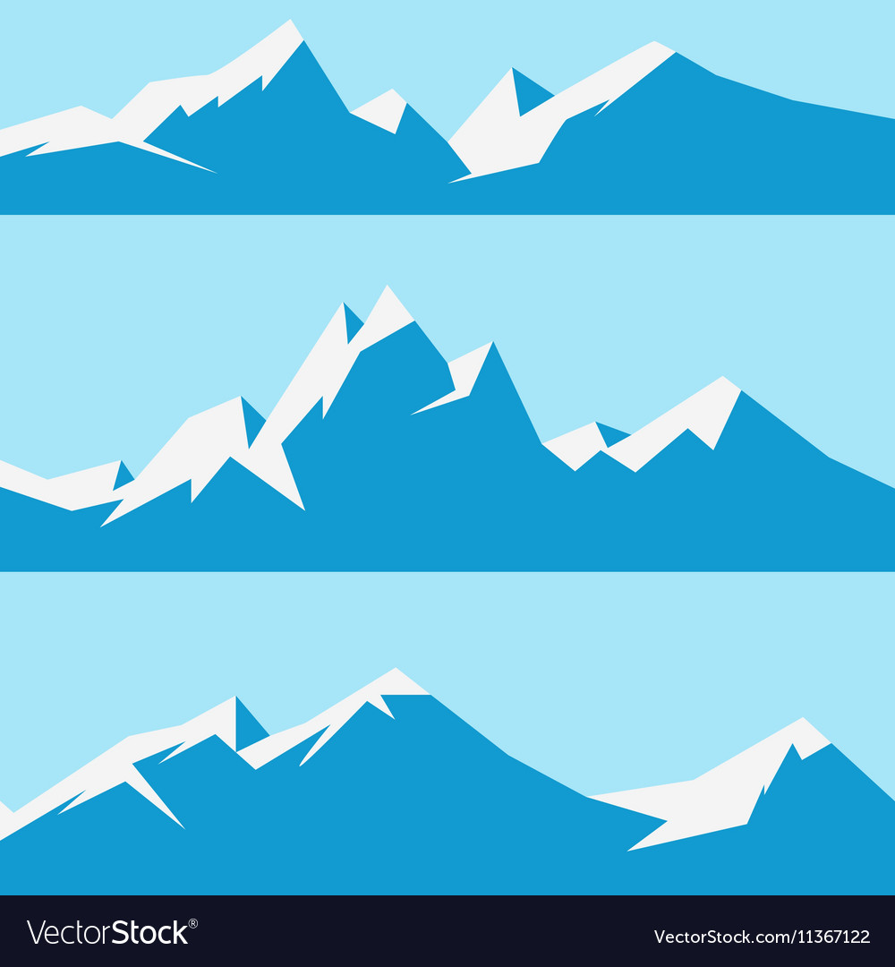 set snowy mountains royalty free vector image vectorstock rh vectorstock com mountain vector file mountain vector free download