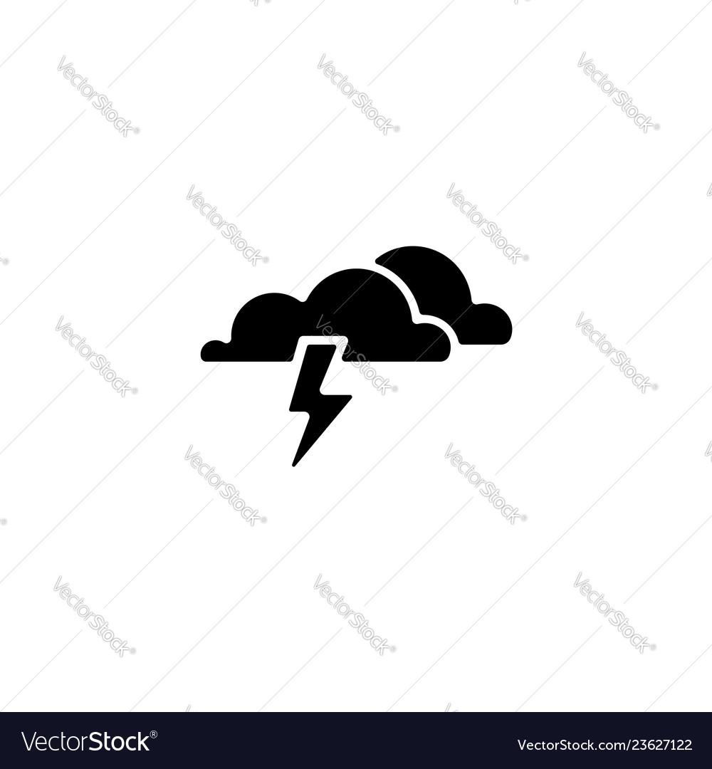 Web icon haze storm clouds thunderclouds black