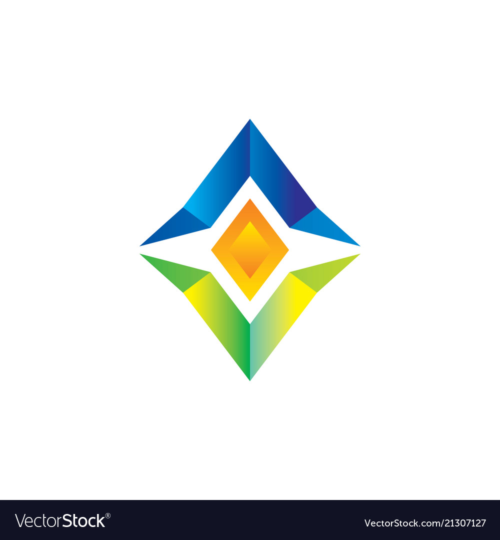 abstract diamond business logo royalty free vector image