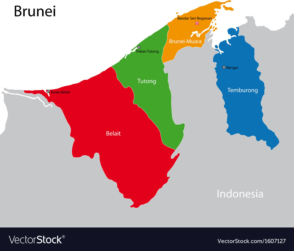 Brunei map royalty free vector image vectorstock brunei map vector image gumiabroncs Gallery