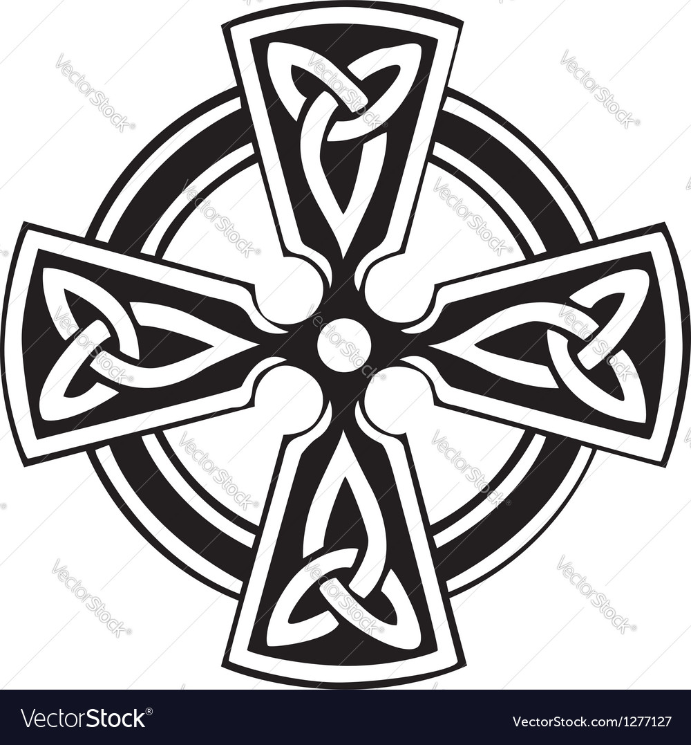 celtic cross royalty free vector image vectorstock rh vectorstock com irish celtic cross vector celtic cross vector image