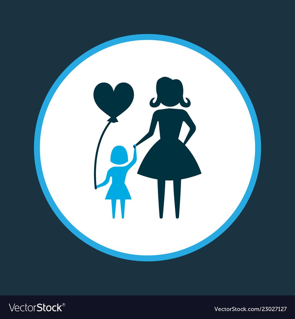 Child icon colored symbol premium quality