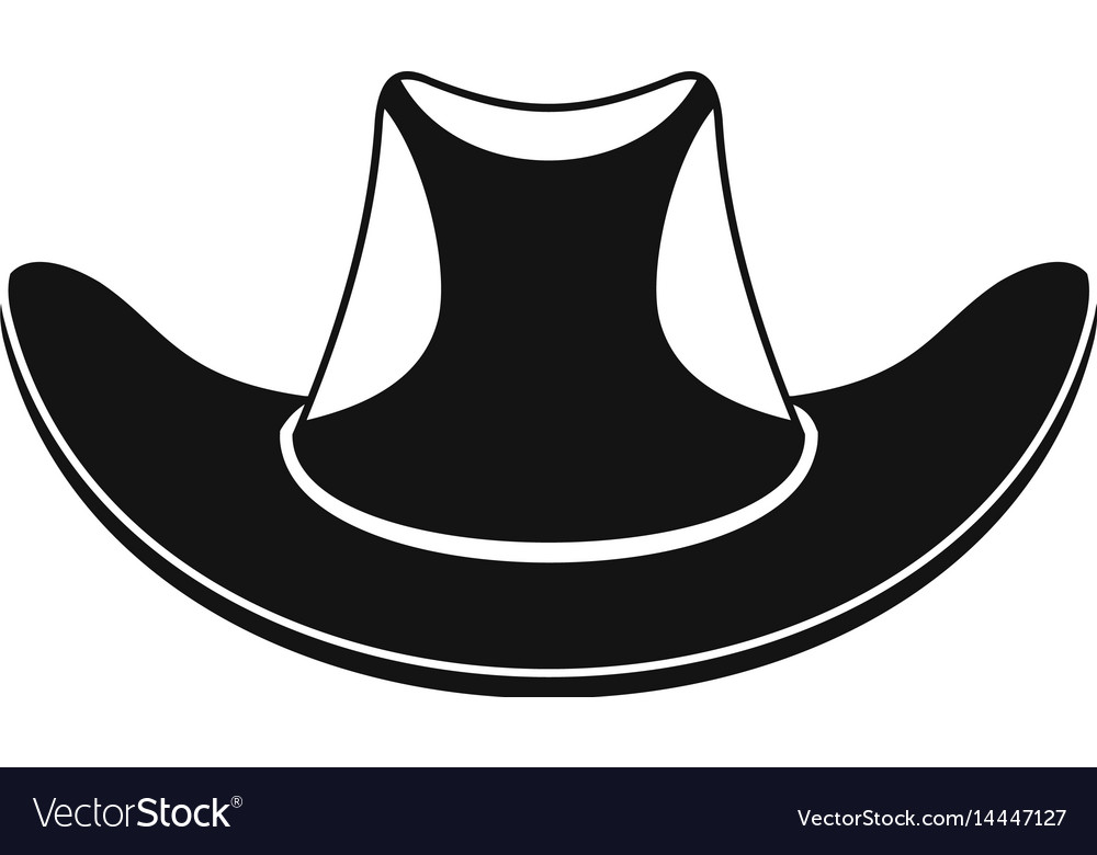 Cowboy hat icon simple style vector image