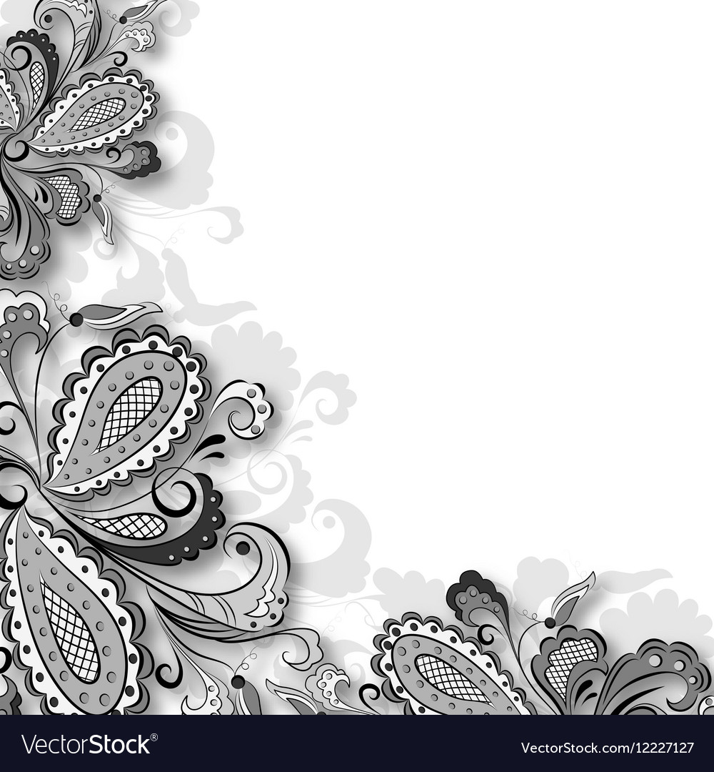 Decorative floral graphic vector image