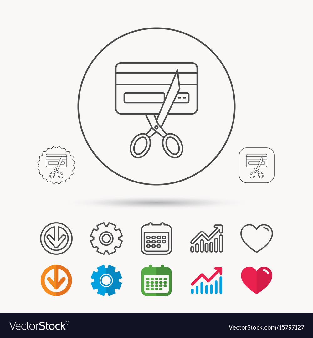 Expired credit card icon shopping sign vector image