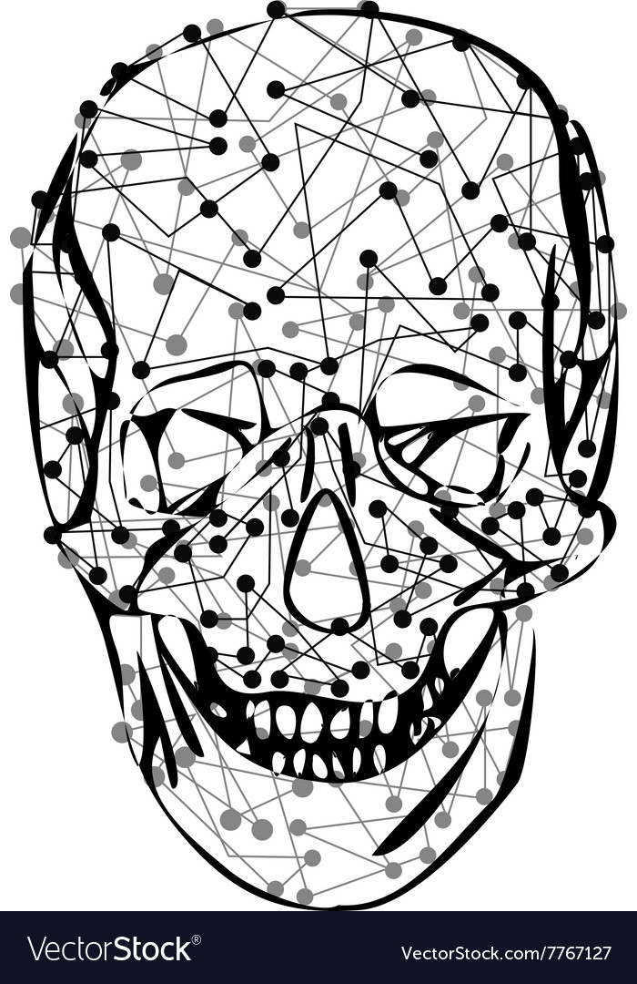 Funny skeleton skull