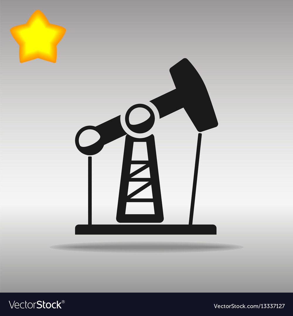 Oil rig pump vector image