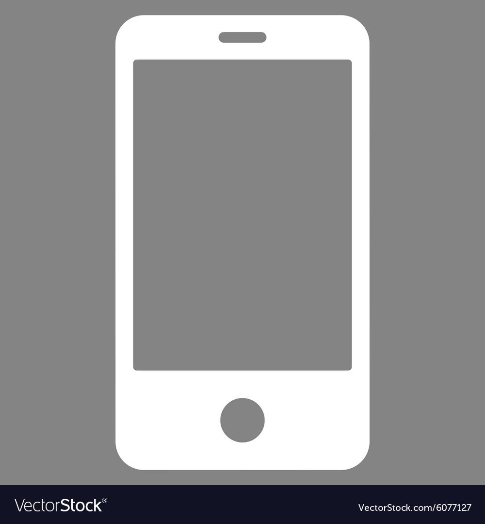 Smartphone Flat White Color Icon Vector Image