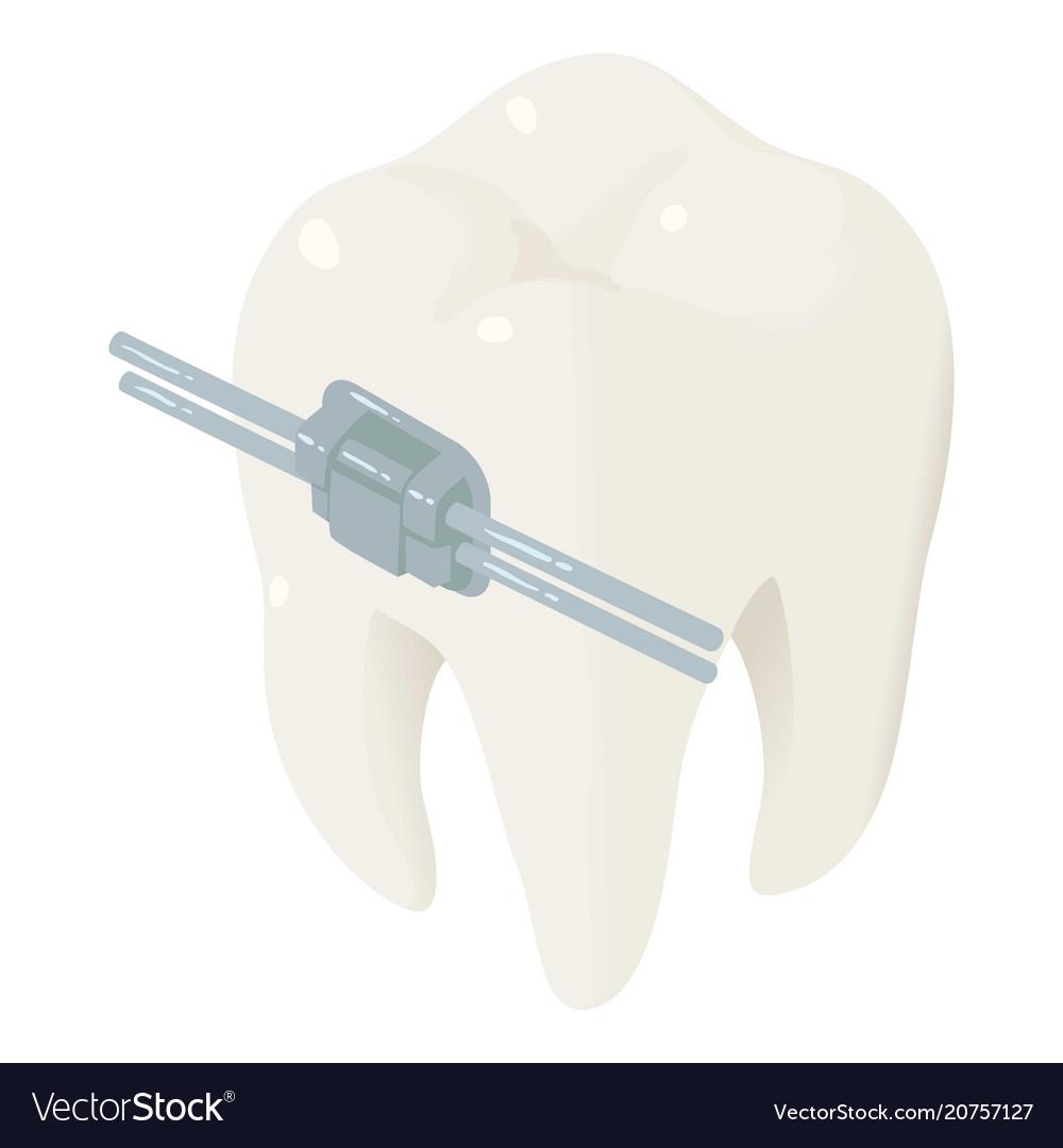 Tooth arrangement icon isometric style