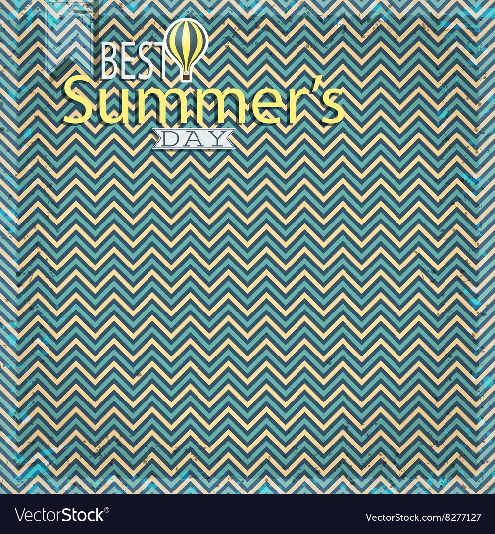 Vintage chevron pattern vector
