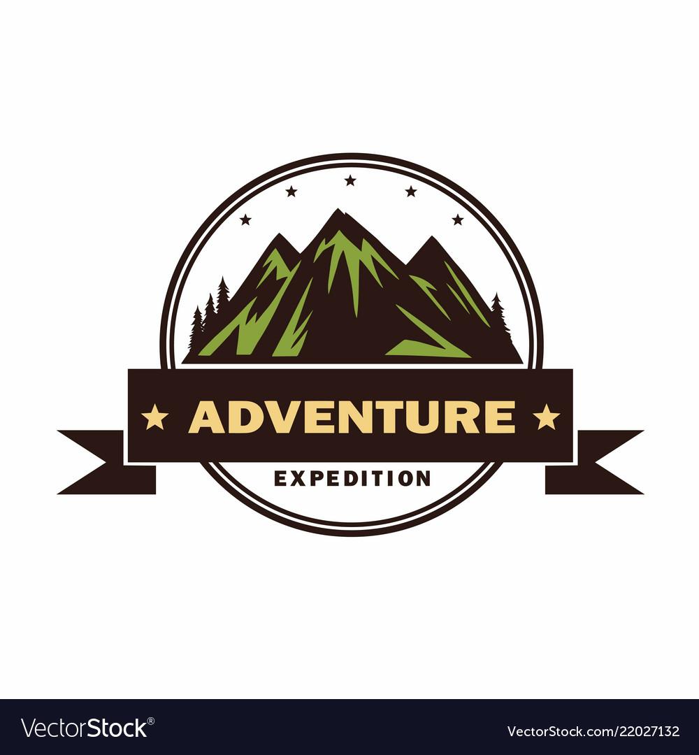 Adventure camping campfire camping logo