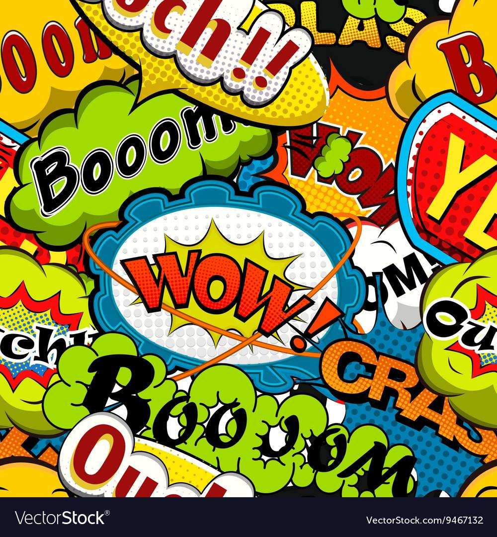 Bright and multicolored Comics Speech Bubbles Seam