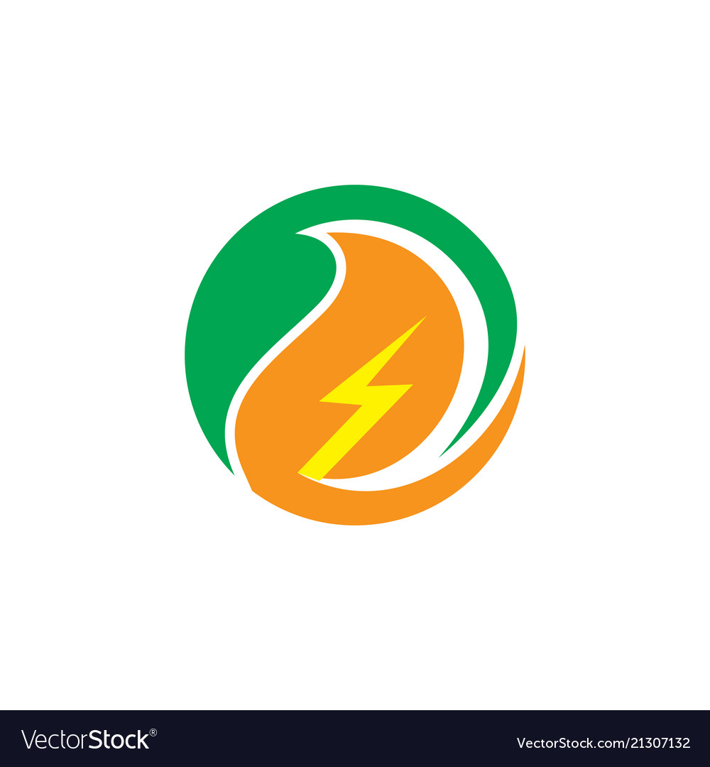Circle eco electric business logo