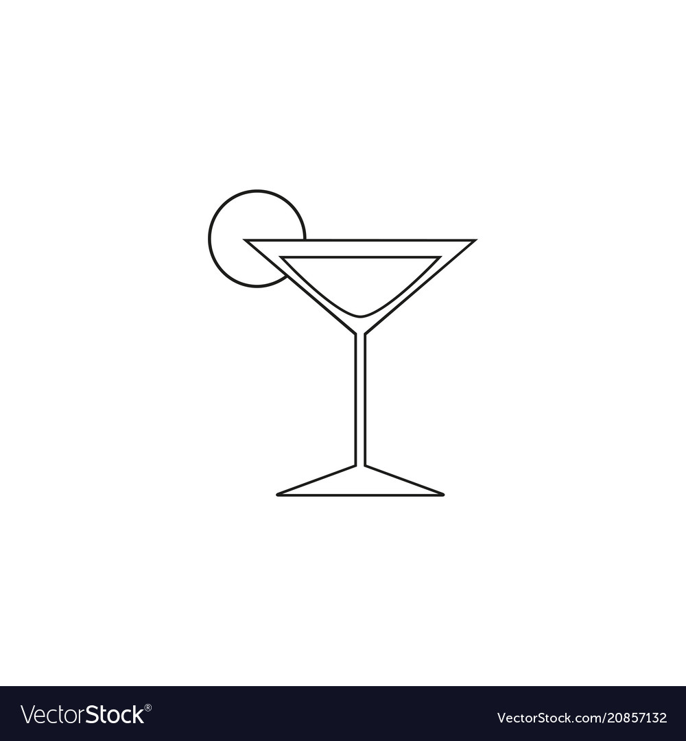 Cocktail online of icon