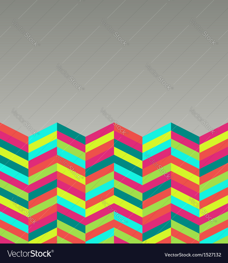 Colorful retro abstract seamless pattern vector image
