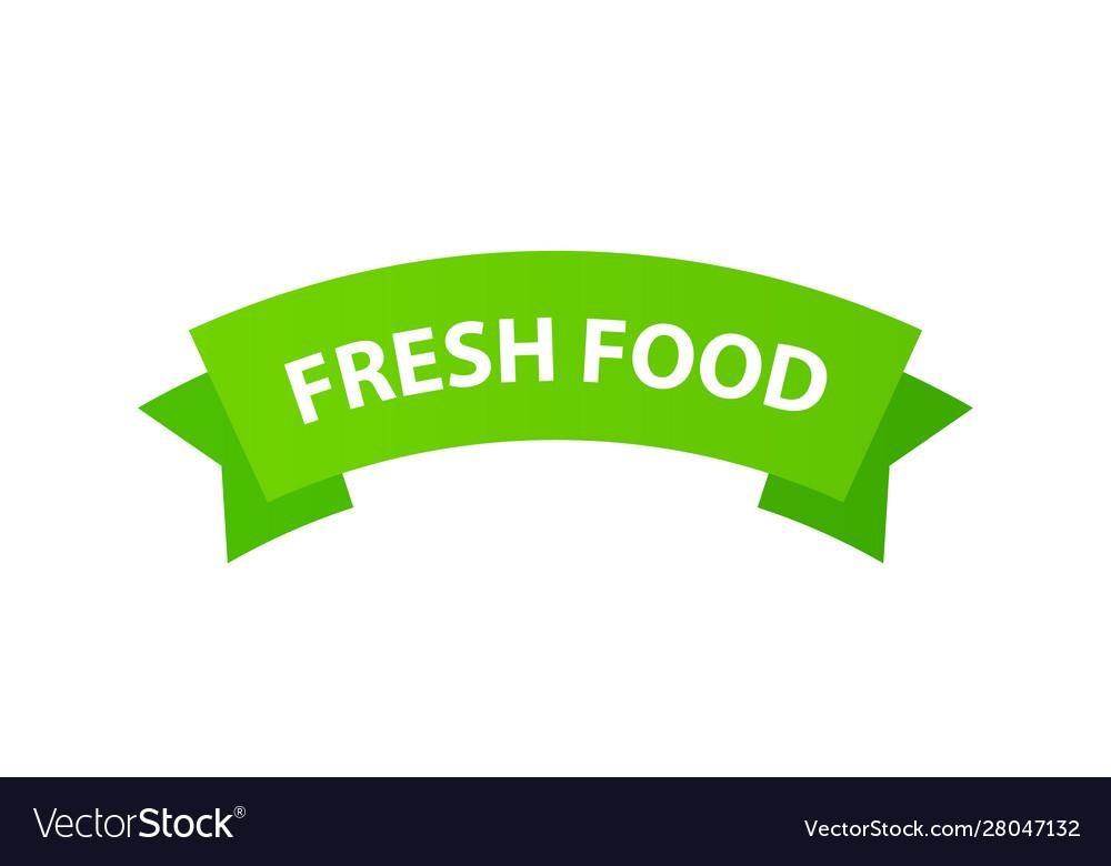 Emblem fresh food sign for packages natural