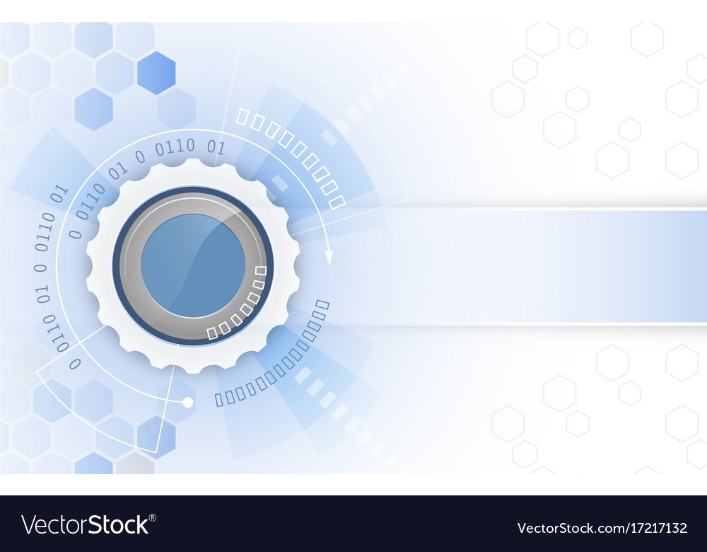 Gear wheel arrows and hexagon pattern abstract