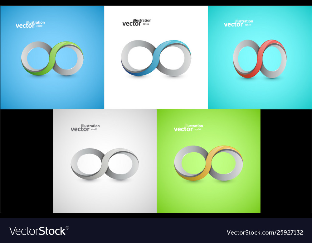 Infinity sign graphic design