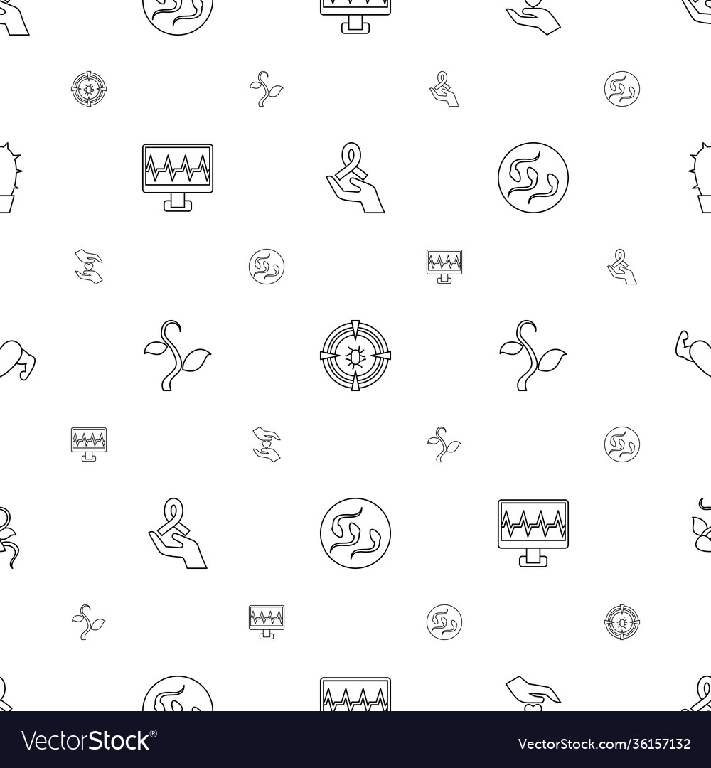 Life icons pattern seamless white background