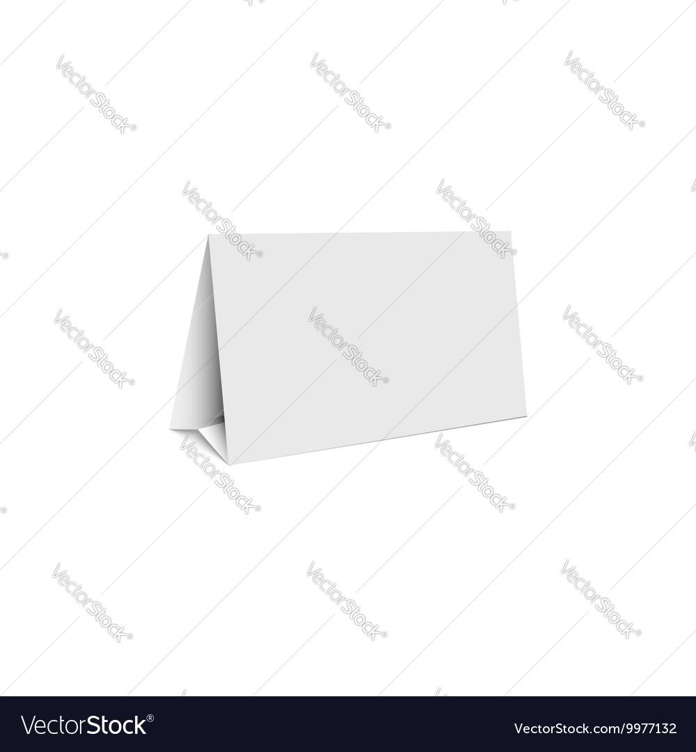 Mockup white blank promotion banner holder