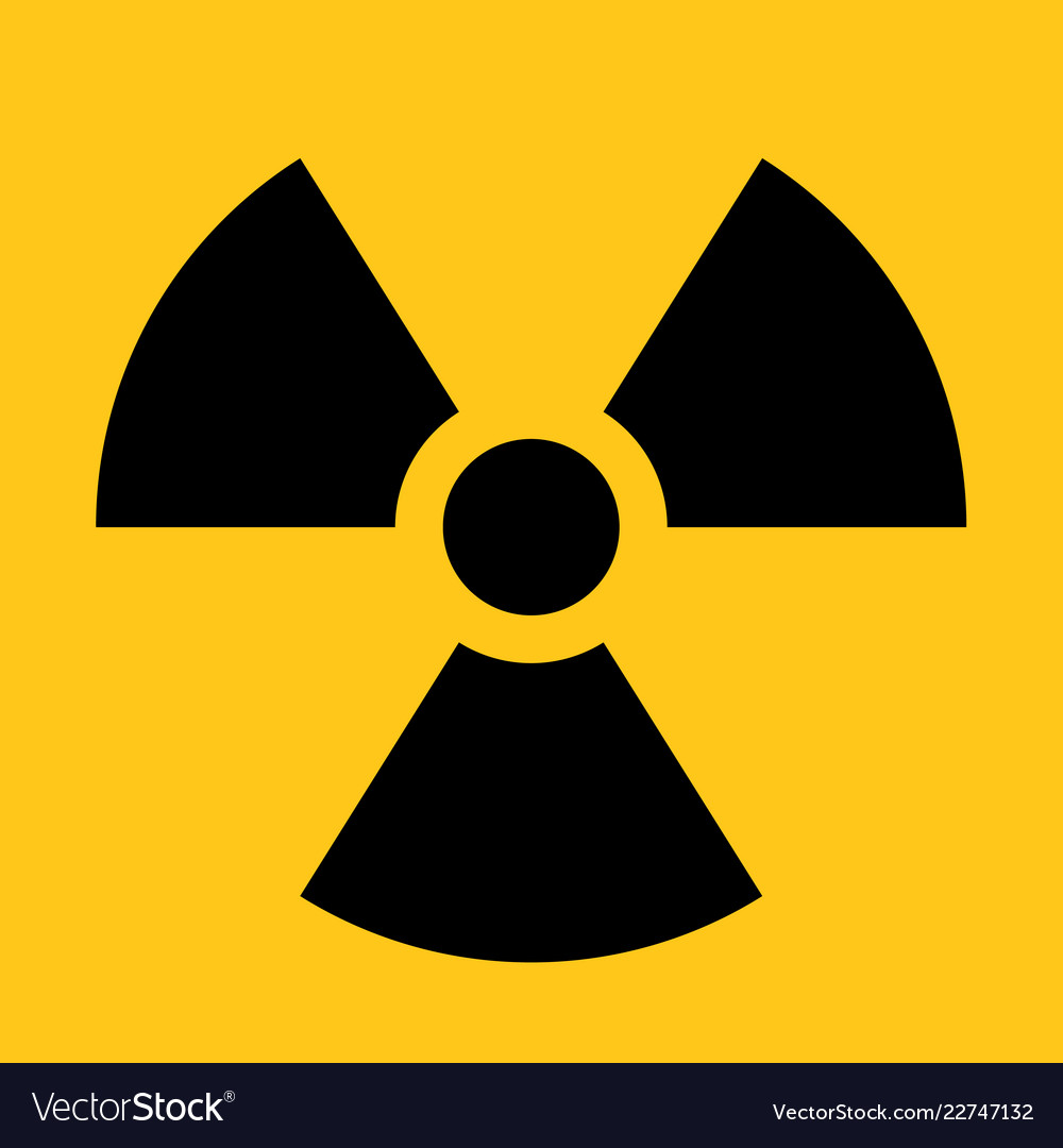 Radioactive material sign symbol of radiation