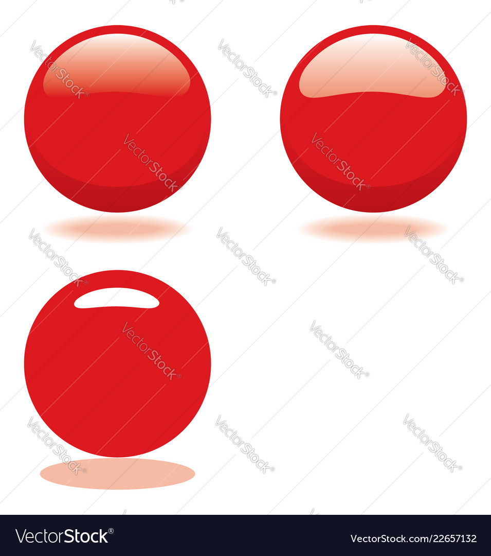 Red ball template for buttons or icons
