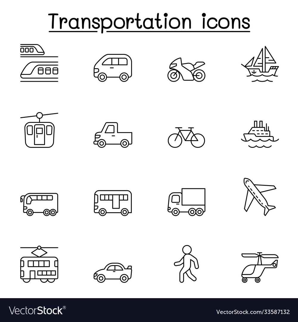 Set public transport related line icons