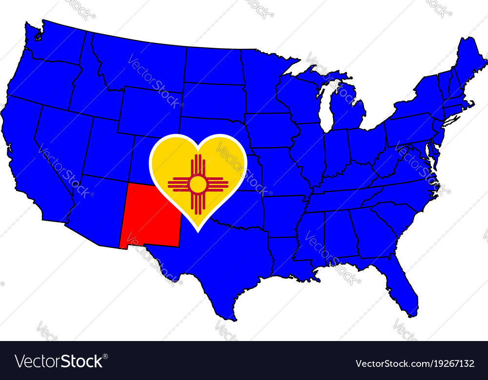 State of new mexico vector image