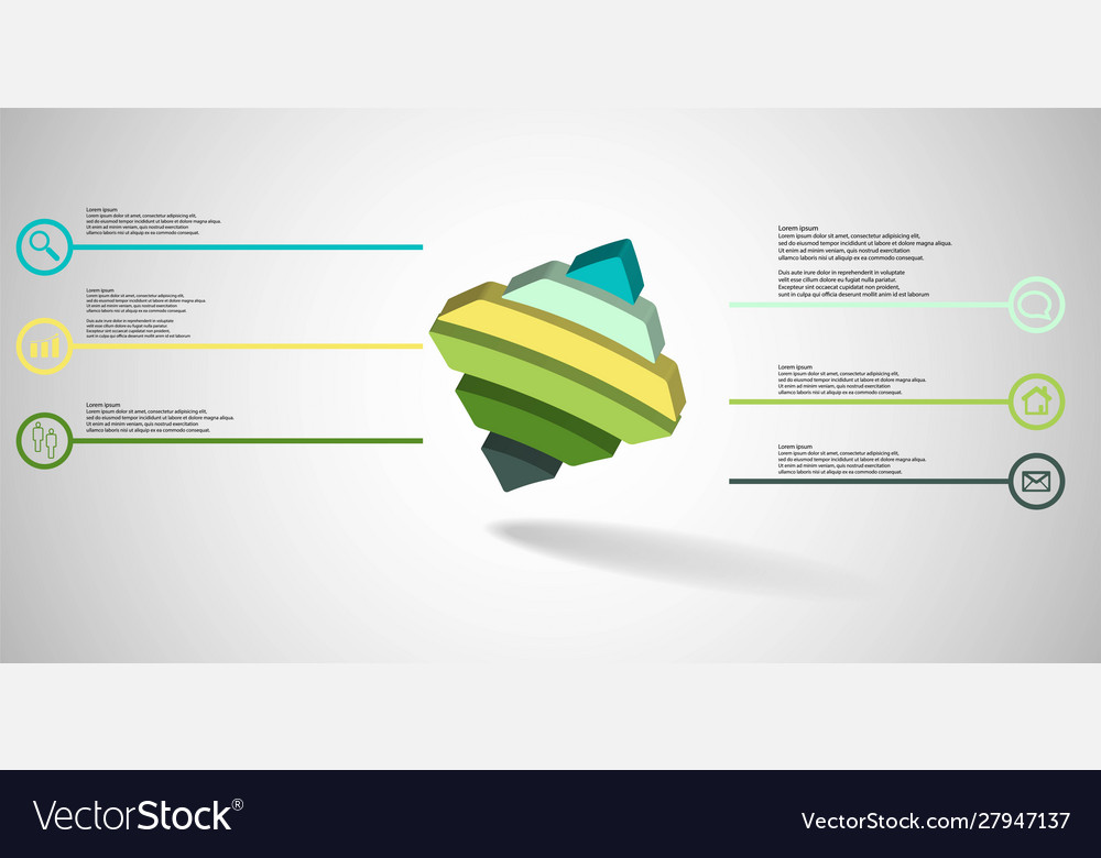3d infographic template with embossed bent rhomb
