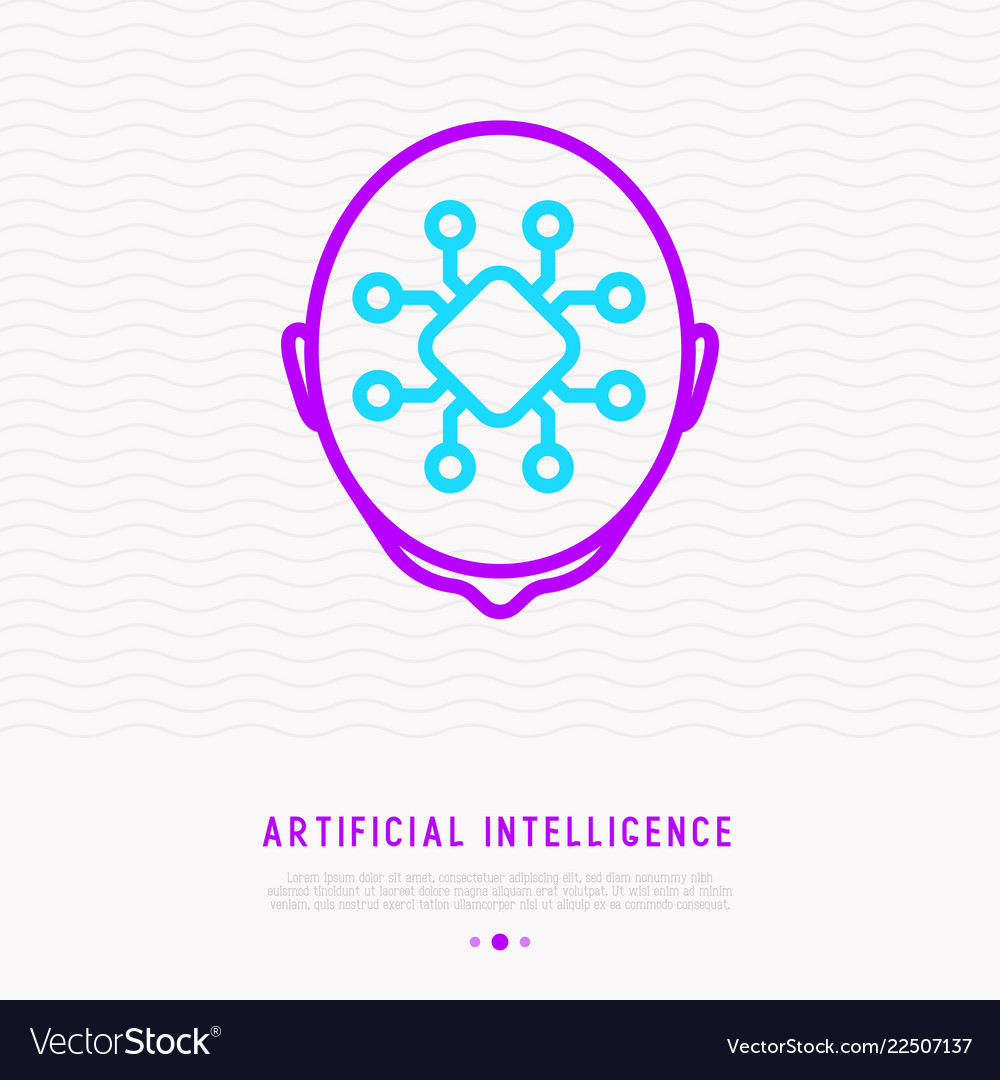 Artificial Intelligence Or Machine Learning Icon