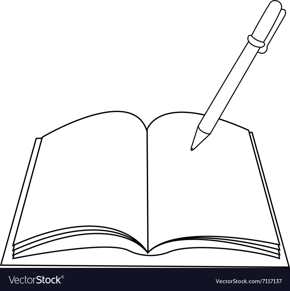 Pen Book Vector