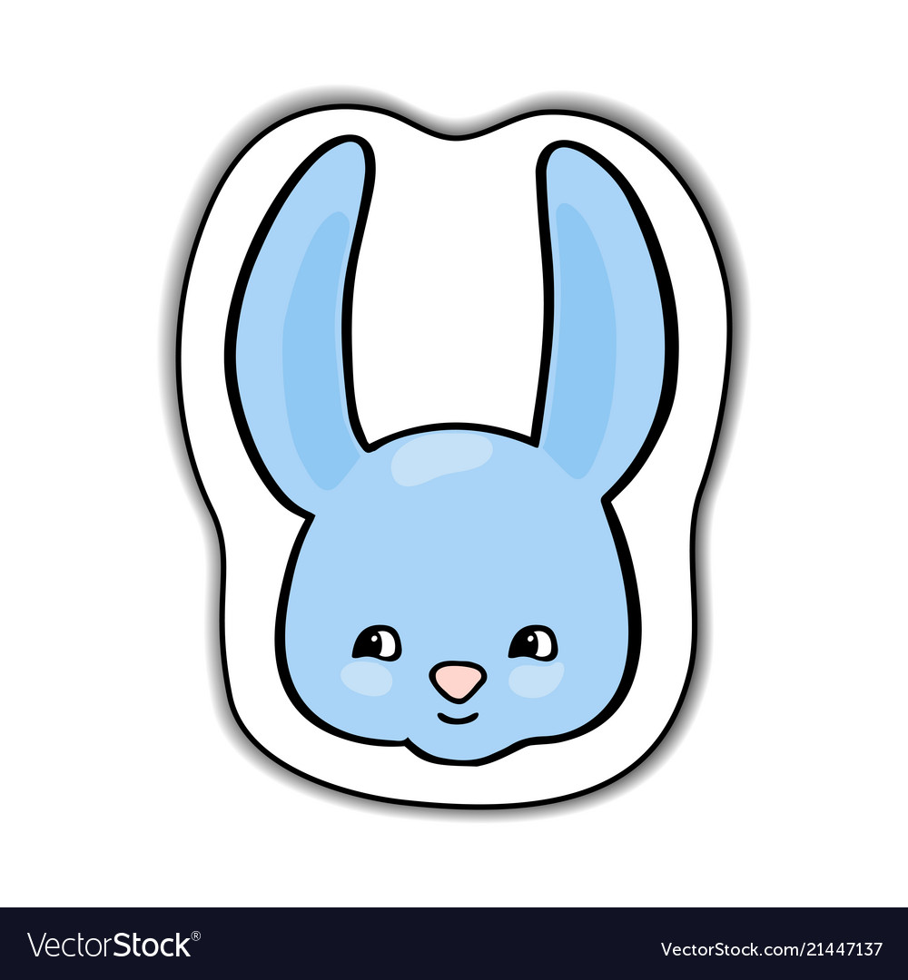 Cute rabbit animal face sticker